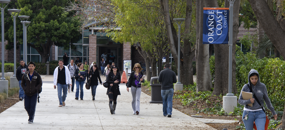 Students walking by the Technology Center