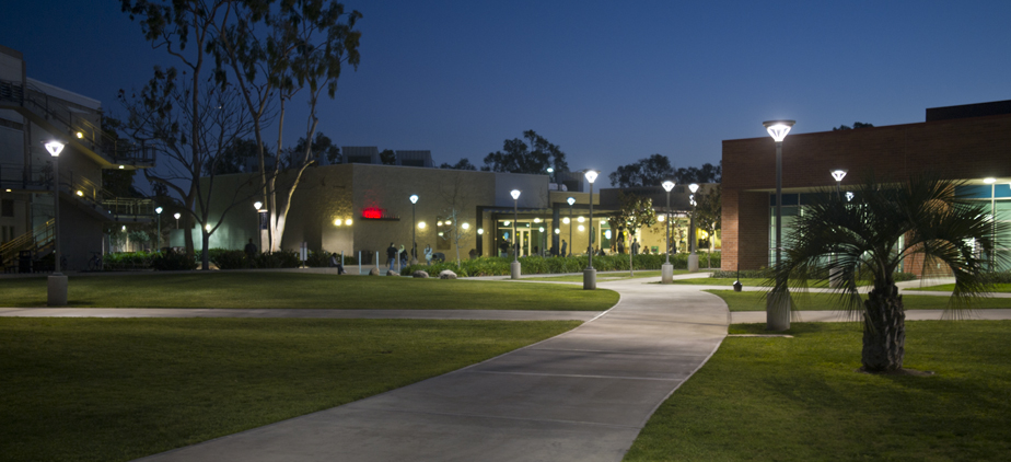 OCC campus during the evening