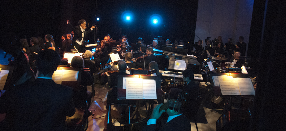 Faculty and student musical orchestra