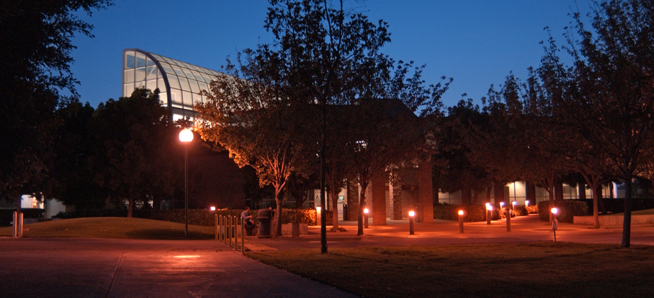 The Technology Building during the evening