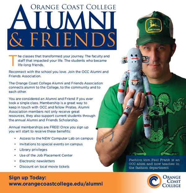 Alumni and friends magazine ad