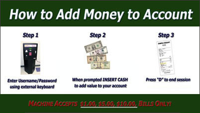 How to add money to an account