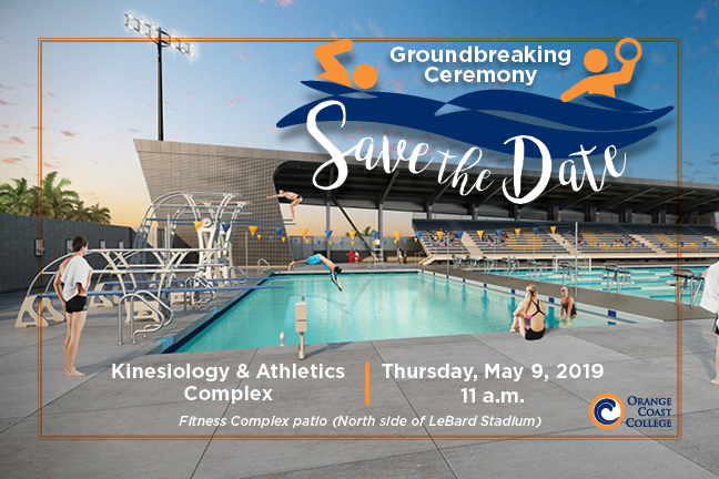 Kinesiology Athletics Complex Groundbreaking Ceremony May 9th 11:00 am Fitness Complex Patio