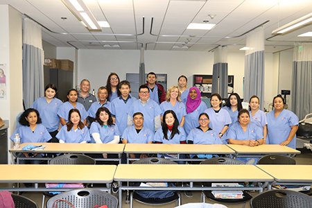 Students of the Personal Care Aide class