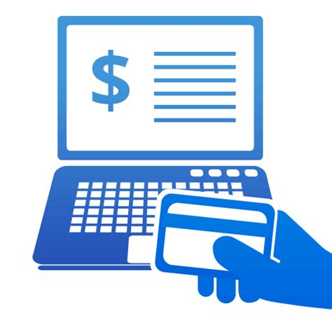 online payment graphic with hand holding credit card