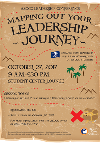 ASOCC leadership conference designed to look like treasure map