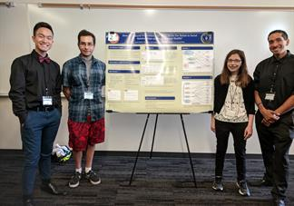 PsiBeta Students posing with their poster presentation