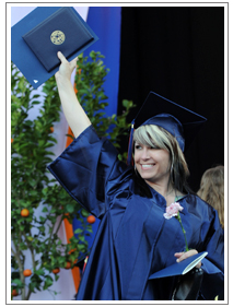 Financial Aid - Woman holding Diploma
